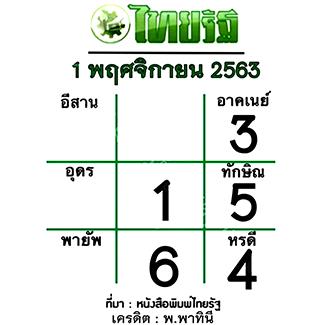 หวยไทยรัฐ 1/11/63