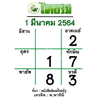 แนวทางหวยไทยรัฐ งวด 1/3/64