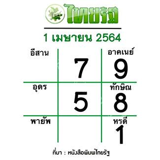 แนวทางหวยไทยรัฐ งวด 1/4/64