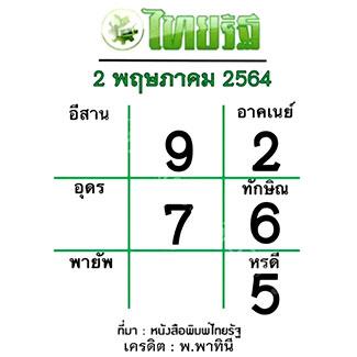 หวยไทยรัฐ งวด 2/5/64